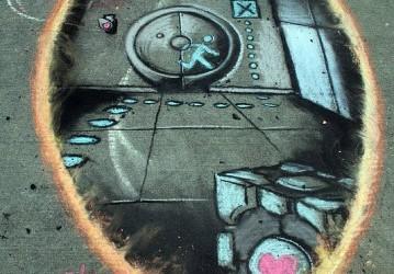 Voici une magnifique création sur un trottoir de Tacoma aux États-Unis. Elle est réalisée à la craie par James Stowe