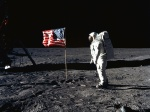 US flag on Moon  1600