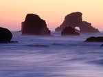 Evening Falls over Sea Stacks  Ecola State Park