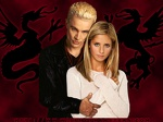 BtVS  Wallpaper  Buffy Spike Dragon Background