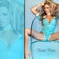 Katie Price in blue latex